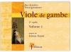 Viole de gambe - 1er cycle - Volume 1