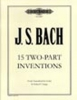 Bach Johann Sebastian : 15 Two-part Inventions