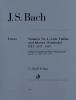 Bach Johann Sebastian : Sonatas for Violin and Piano (Harpsichord) 4-6 BWV 1017-1019 with appendix