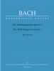 Bach Johann Sebastian : Das Wohltemperierte Klavier I