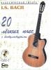 Bach Johann Sebastian : 20 easy pieces for guitar. With CD.
