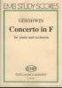 Gershwin George : CONCERTO IN FA PER PIANOFORTE E ORCHESTRA
