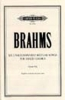 Brahms Johannes : Unaccompanied Secular Songs for Mixed Chorus, Vol.3