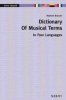 Braccini Roberto : Dictionary of Musical Terms in Four Languages