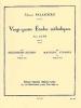 Palaschko J. : 24 Etudes Melodiques Op77