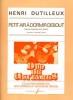 Dutilleux Henri : PETIT AIR A DORMIR DEBOUT - TRANSCRIPTION POUR DEUX GUITARES