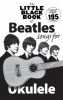 Beatles The : The Little Black Book Of Beatles Songs For Ukulele