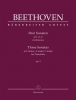 Beethoven Ludwig Van : Three Sonatas for Piano F minor, A major, C major op. 2