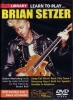 Setzer Brian : Dvd Lick Library Learn To Play Brian Setzer