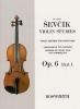 Sevcik Otakar : Sevcik Violin Studies Op.6 Part.1 Pour Les Commencants