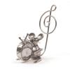 : Figurine en étain souris grosse caisse