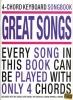 4 Chord Keyboard Songbook Great Songs