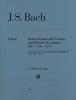Bach Johann Sebastian : 6 Sonatas for Violin and Piano (Harpsichord) BWV 1014 - 1019