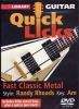 Dvd Lick Library Quick Licks Fast Classic Metal Randy Rhoads