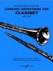 Harris Paul / Johnson E. : Concert Repertoire (clarinet and piano)