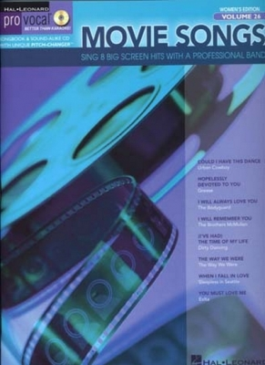 Pro Vocal Vol.26 Movie Songs Women 8 Titles Cd