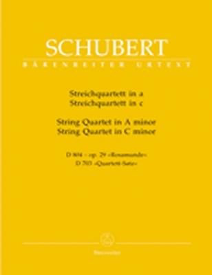 Streichquartett In A-Moll D 804 - Op. 29 'Rosamunde' / Streichquartettin C-Moll D 703 'Quartett-Satz'
