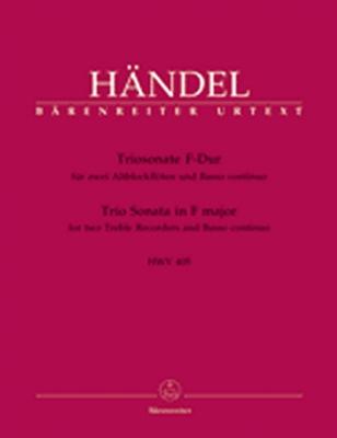 Haendel Georg Friedrich : Triosonate für zwei Altblockflöten und Basso continuo