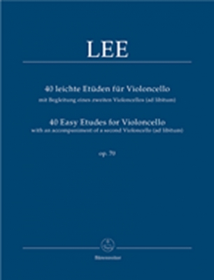 40 Leichte Etüden Für Violoncello Mit Begleitung Eines Zweiten Violoncello (Ad Libitum)