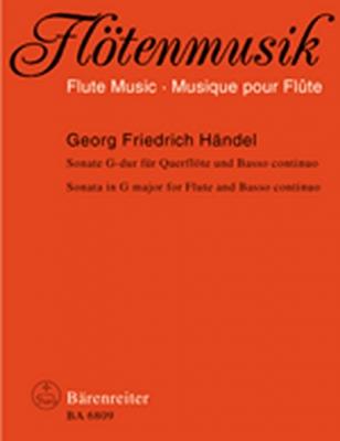 Haendel Georg Friedrich : Sonate G-dur für Flöte und Basso continuo