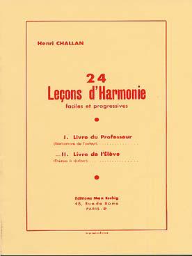 24 Lecons D'Harmonie, Livre De L' Eleve, Themes A Realiser