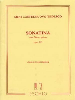 Castelnuovo-Tedesco Mario : SONATINA, POUR FLUTE ET GUITARE, OPUS 205, DOIGTES DE K.