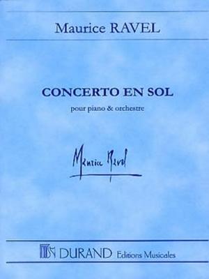 Concerto En Sol Pour Piano Et Orchestre (Poche)