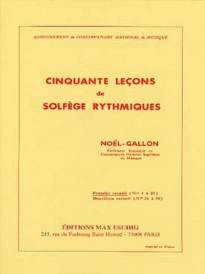 50 Lecons Vol.1 Solfège Rythmiques