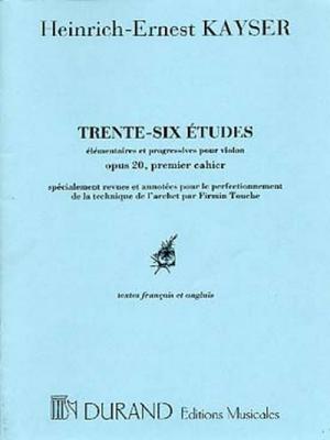 36 Etudes Violon 1er Cahier