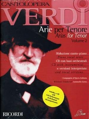 Verdi Giuseppe : CANTOLOPERA: ARIE PER TENORE + CD VOLUME 2