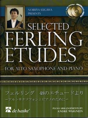 Selected Ferling Etudes - Recueil Pour Saxophone Alto Avec 2 Cd's
