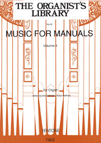 Music For Manuals Vol.3 / Hesford Ed - Orgue