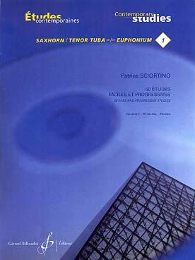 50 Etudes Faciles Et Progressives Saxhorn - Euphonium Vol.1