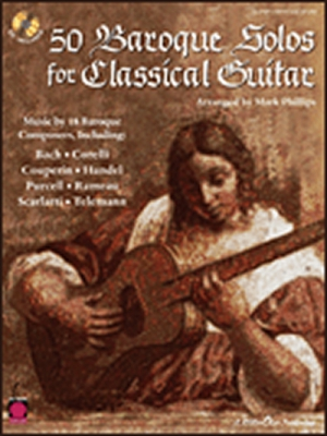 50 Baroque Solos For Classical Guitar Guitar Cd