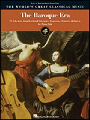 Baroque Era World's Great Classical Music Easy To Interm. Piano Solo