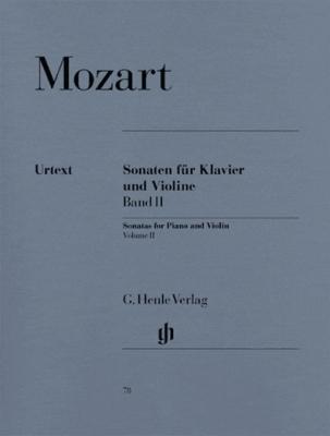 Mozart Wolfgang Amadeus : Sonatas for Piano and Violin, Volume II