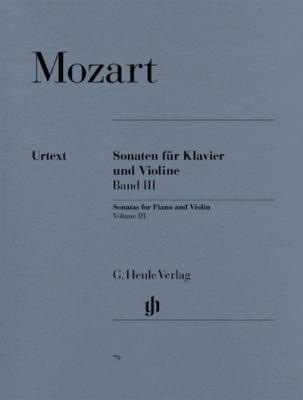 Mozart Wolfgang Amadeus : Sonatas for Piano and Violin, Volume III