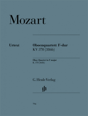 Mozart Wolfgang Amadeus : Oboe Quartet in F major K. 370 (368b)