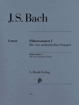 Bach Johann Sebastian : Flute Sonatas, Volume I (The four authentic Sonatas - with Violoncello part)