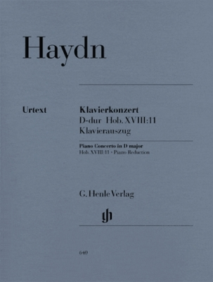 Haydn Franz Josef : Concerto for Piano (Harpsichord) and Orchestra D major Hob. XVIII:11