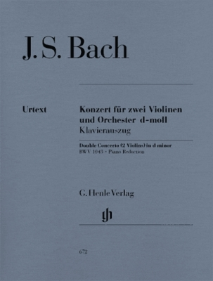 Bach Johann Sebastian : Concerto for 2 Violins and Orchestra d minor BWV 1043