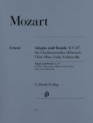 Mozart Wolfgang Amadeus : Adagio und Rondo K. 617 for glass harmonica (Piano), Flute, Oboe, Viola and Violoncello