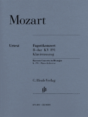 Mozart Wolfgang Amadeus : Concerto for Bassoon and Orchestra Bb major K. 191