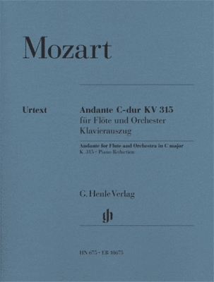Mozart Wolfgang Amadeus : Andante for Flute and Orchestra C major K. 315