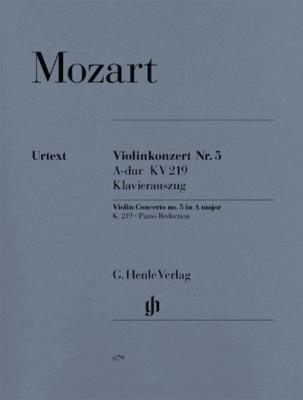 Mozart Wolfgang Amadeus : Violin Concerto no. 5 A major K. 219