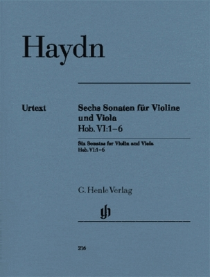 6 Sonatas Hob. Vi:1-6
