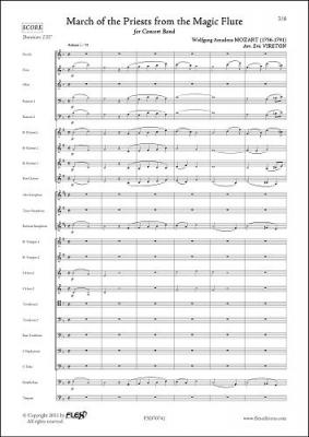 Mozart Wolfgang Amadeus : Marche du Cortège de la Flûte Enchantée