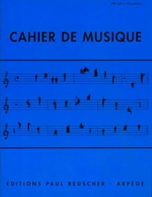 Cahier De Musique 12 Portées - Petit Format