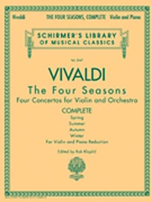 Vivaldi Antonio : Vivaldi Four Seasons Complete Violin/Piano