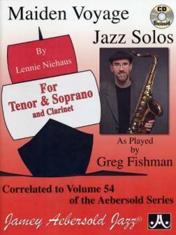 Niehaus Lennie : Maiden Voyage Jazz Solos for Tenor and Soprano and Clarinet